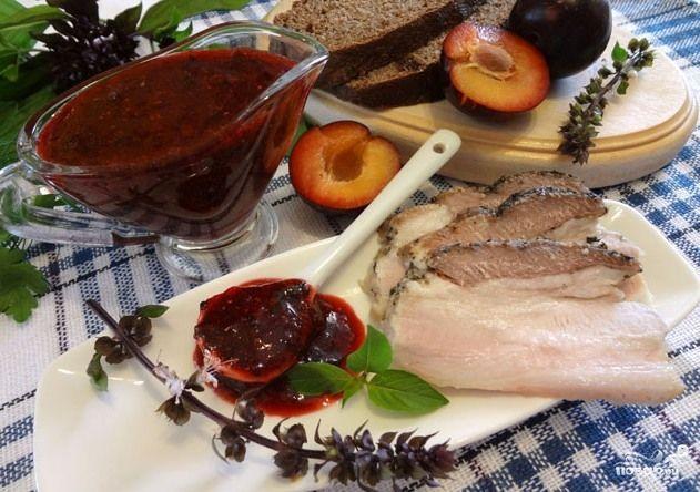 Домашние заготовки соусов из слив к мясу