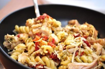 Ароматные макароны с курицей и капустой рецепт приготовления