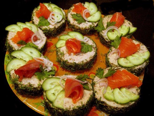 Праздничные бутерброды рецепты